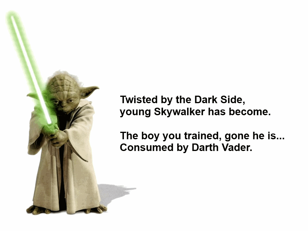Twisted by the Dark Side