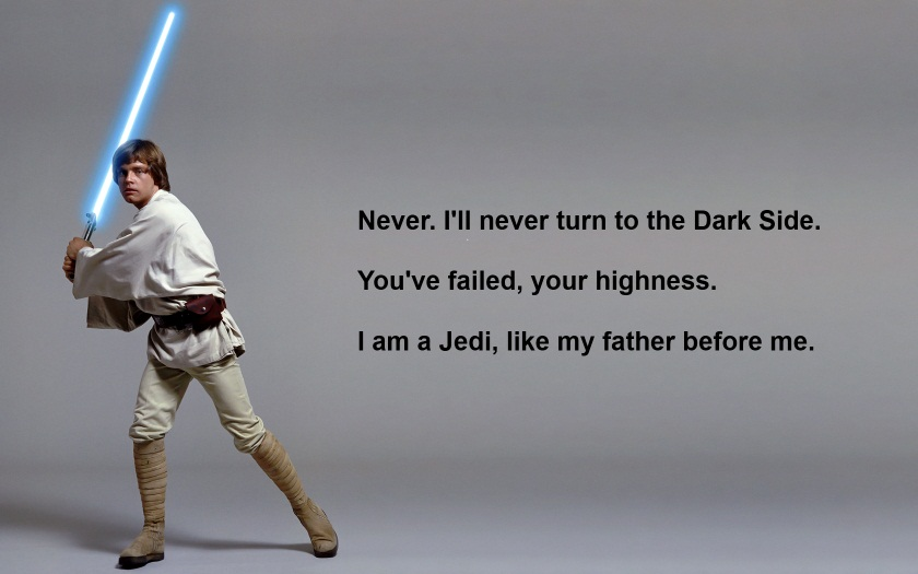 luke skywalker quote